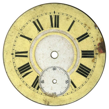 Vintage pocket watch - dial only - isolated with clipping path