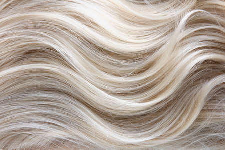 Photo for Female blonde curly  hair texture - Royalty Free Image