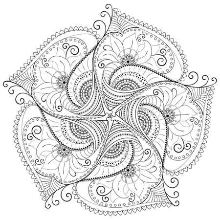 Ilustración de Circular floral pattern. - Imagen libre de derechos