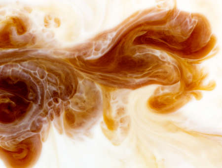 Foto de abstract background mixing coffee with milk, flow - Imagen libre de derechos