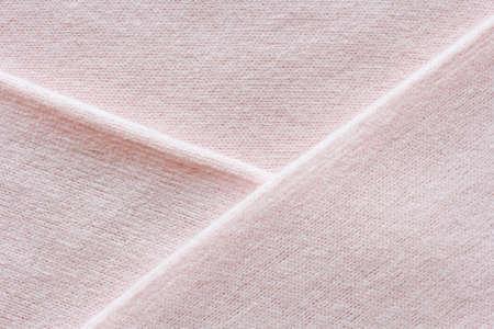 Photo pour delicate pink cashmere texture, knitted fabric macro - image libre de droit
