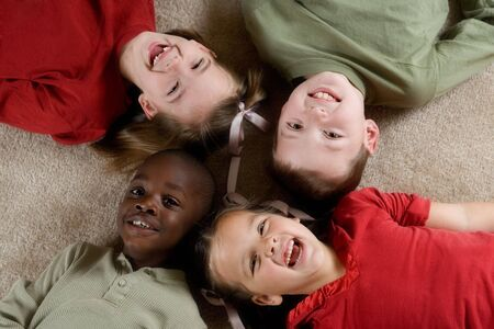 Diversity Series - Four children playing together.