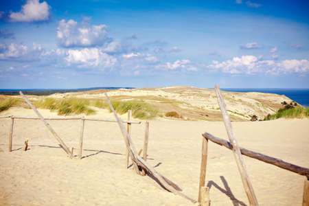 sandy dunes named Grey on the Curonian Spit in Lithuania