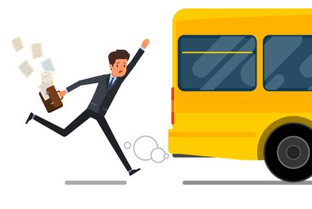 Illustration pour Concept of lateness. - image libre de droit