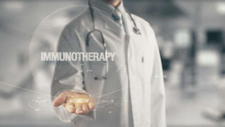 Photo pour Doctor holding in hand Immunotherapy - image libre de droit