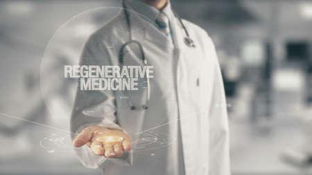 Photo pour Doctor holding in hand Regenerative Medicine - image libre de droit