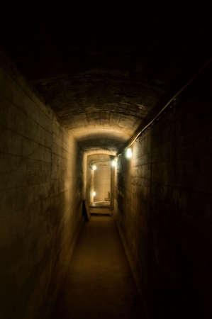 Underground dark corridor