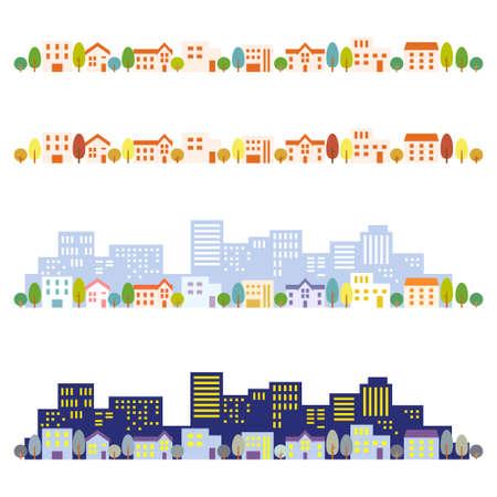 Illustration pour Cityscape illustrations - image libre de droit