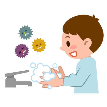 Vektor für Boy to hand-wash - Lizenzfreies Bild