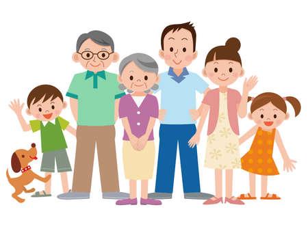 Photo pour Three generation family - image libre de droit