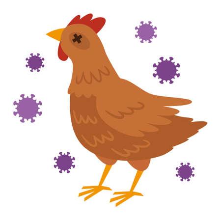 Illustration pour Illustration of avian influenza - image libre de droit