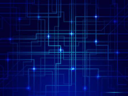 Photo pour Abstract Lines Circuit Lights technology concept - image libre de droit