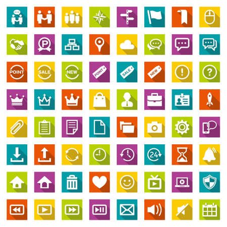 Illustration for Design icon set suitable for info graphics, websites and print media. - Royalty Free Image