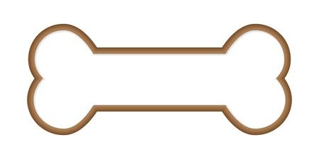 Illustration pour Dog Bone. Vector Illustration - image libre de droit