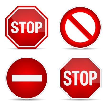 Stop sign, set.