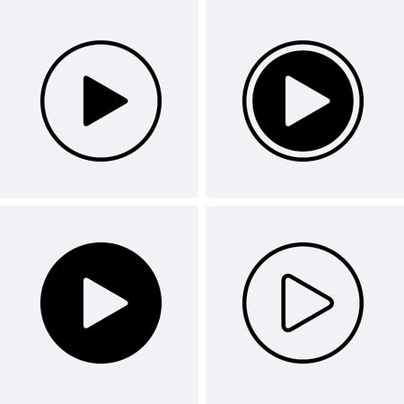 Play Icons. Vector