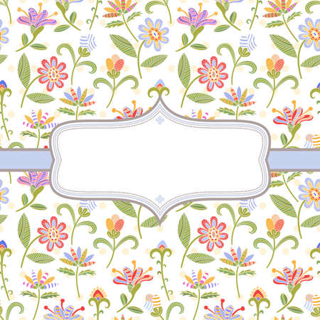 Decorative background with bright flowers