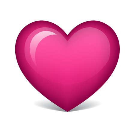 Ilustración de pink heart - Imagen libre de derechos