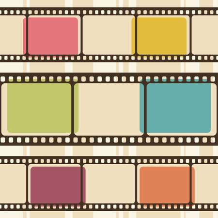 Illustration for Retro background with film strips - Royalty Free Image