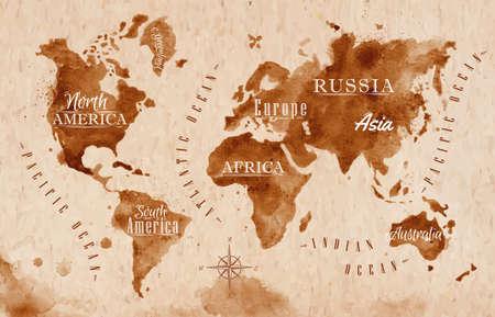 Foto für World map map retro - Lizenzfreies Bild