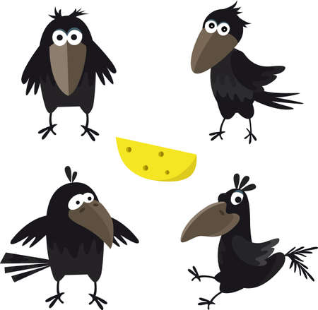 Illustration for Cute crow seamless pattern vector image for your design - Royalty Free Image