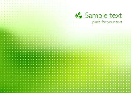 Ilustración de Green background for ecology topics - Imagen libre de derechos