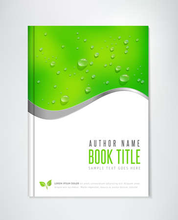 Illustration for Brochure Design - vector template. Can be used for ecological themes, organic agriculture, healthy lifestyle topics. - Royalty Free Image