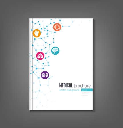 Vektor für Brochure template - medical topics, healthcare, science, technology. - Lizenzfreies Bild