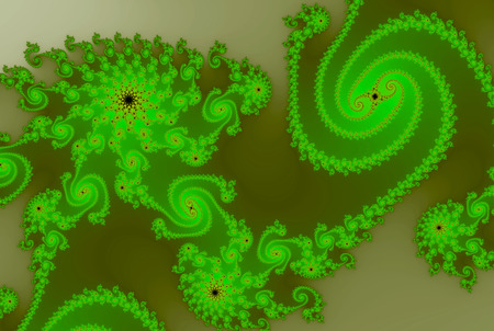 Spiral Wave Fractal Swirl in green colors