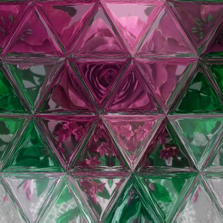 Polygonal Dark Multicolor Texture In Teal Wine Brown