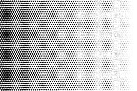 Illustration pour Comic background. Halftone dotted retro pattern with circles, dots, design element for web banners, posters, cards, wallpapers, backdrops, sites. Pop art style. Vector illustration. Black and white - image libre de droit