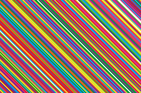 Christmas candle, lollipop pattern. Striped diagonal background with slanted lines. Stripy backdrop for print on wrapping. Vector illustration Colorful rainbow