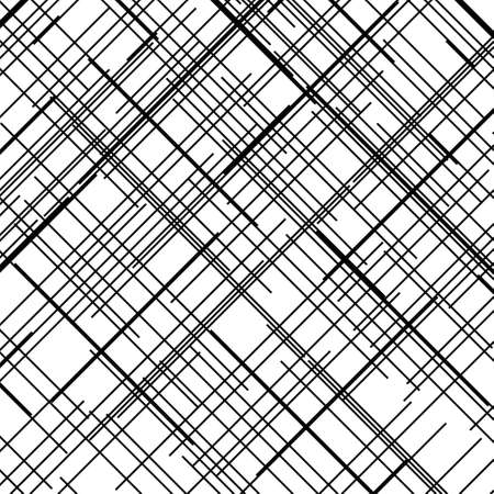 Ilustración de Criss cross pattern. Texture with intersecting straight lines. Design element to create abstract grunge, textured backgrounds, layouts. Digital hatching. Vector illustration - Imagen libre de derechos