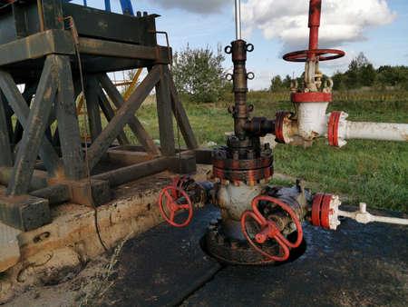 Industry Equipment Close Up, Oilfield, Oil Derrick