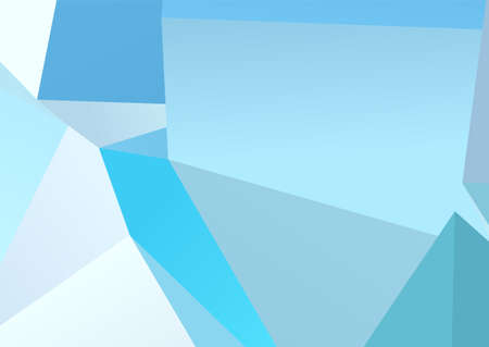 Illustration pour Abstract banner on light backdrop. Trendy blue background. Colorful abstract background. Blue shapes. Decoration element. Geometric graphic texture. Flat design style. - image libre de droit