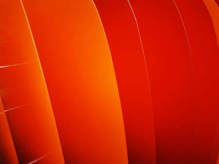 Photo pour Bright wavy pattern with 3d effect. Photo of plastic panels. Dynamic style. Orange- Red background.Colorful wavy background. Geometric texture. Bright wavy background. Flyer backdrop. - image libre de droit