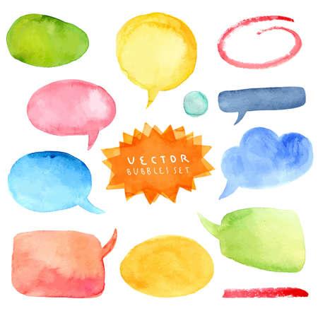 Watercolor bubbles vector