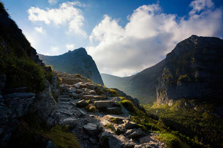 Photo for Beautiful panorama in Tatry mountains on the path to Giewont - Royalty Free Image