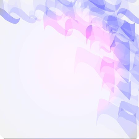 Illustration for Abstract geometric shape from purple and blue cubes. Vector background can be used in cover design - Royalty Free Image