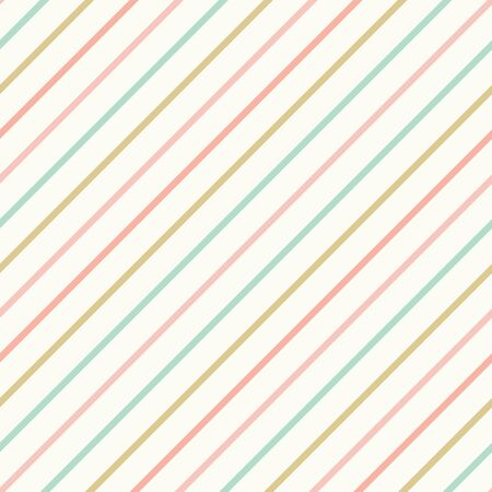 Illustration for Diagonal stripes pattern background. Pastel lined seamless repeat design. - Royalty Free Image