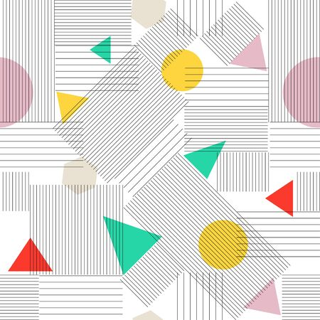 Abstract Seamless retro Pattern  Vector Texture with