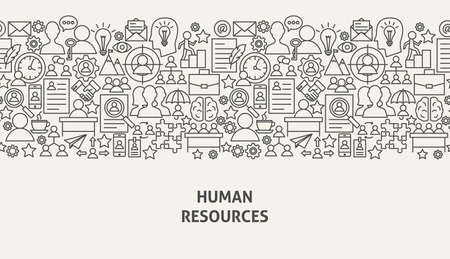 Illustration for Human Resources Banner Concept Vector illustration. - Royalty Free Image