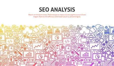 Illustration pour SEO Analysis Concept - image libre de droit