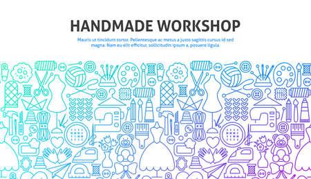 Illustration pour Handmade Workshop Concept - image libre de droit
