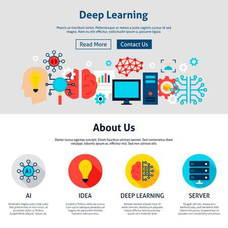 Illustration pour Deep Learning Website Design - image libre de droit
