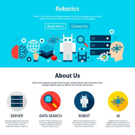 Illustration pour Robotics Website Design - image libre de droit