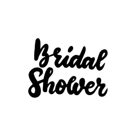Illustration pour Bridal Shower Handwritten Lettering - image libre de droit