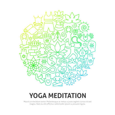 Illustration for Yoga Meditation Circle Concept - Royalty Free Image