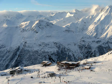 Mountain station of Idalp, Austria
