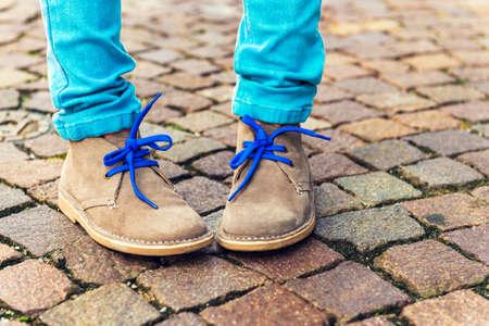 Fashion shoes on kid's feet
